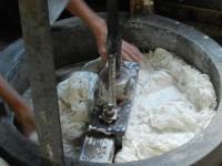 la réduction en pâte